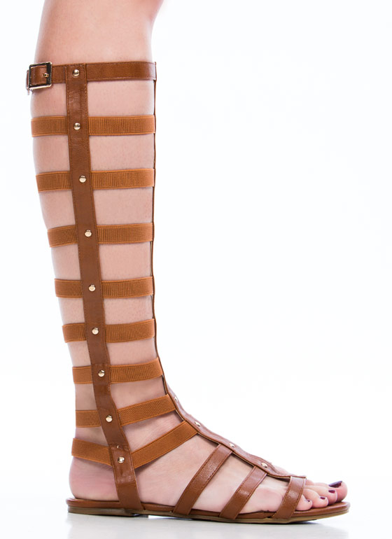 Caged Arena Gladiator Sandals  CAMEL