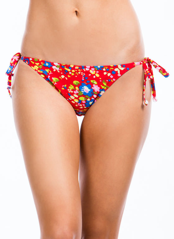 Floral Daze Bikini Bottoms RED (Final Sale)