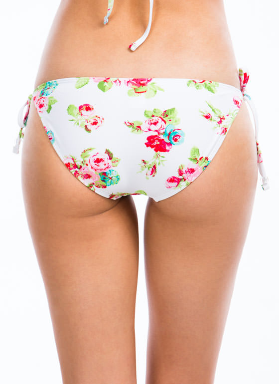 Rose Blossom Brief Bottoms WHITE