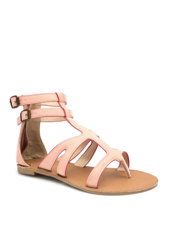 Thrill Seeker Thong Sandals BLUSH