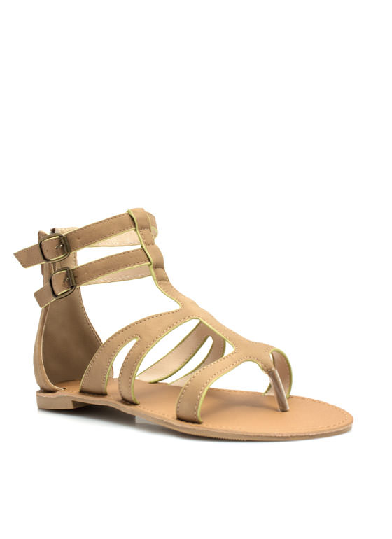 Thrill Seeker Thong Sandals DKTAUPE