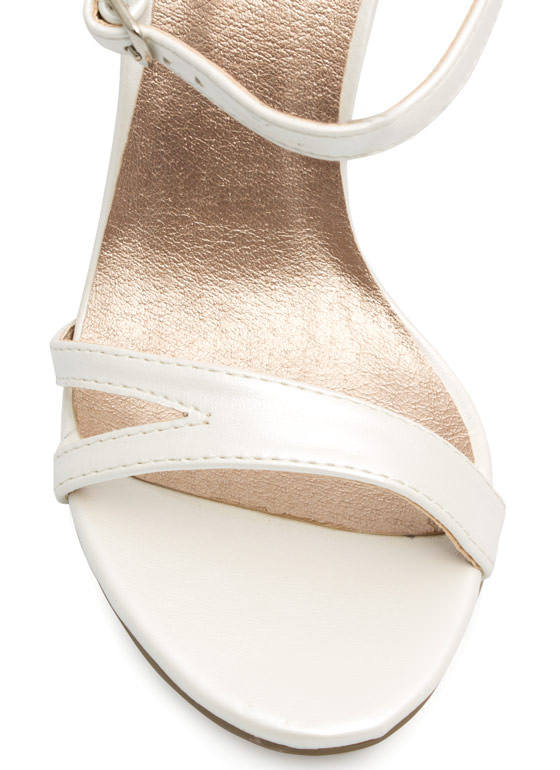 May I Have This Dance Faux Leather Heels PEARL