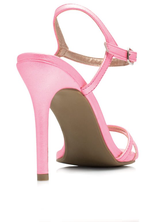 May I Have This Dance Faux Leather Heels PINK