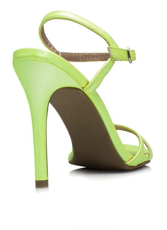May I Have This Dance Faux Leather Heels YELLOW