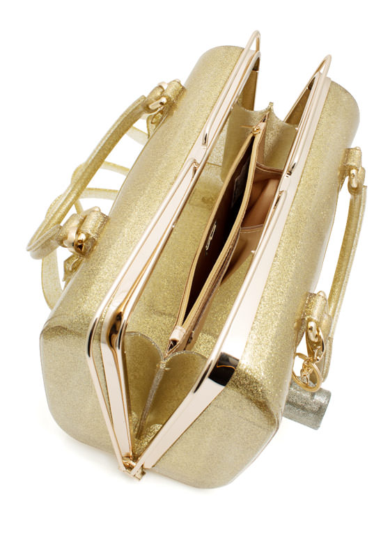 Slide N Lock Jelly Handbag GOLD