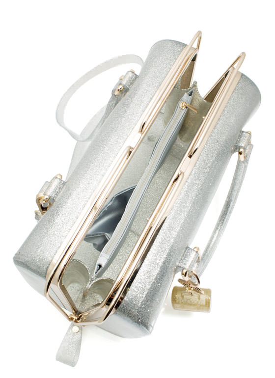 Slide N Lock Jelly Handbag SILVER