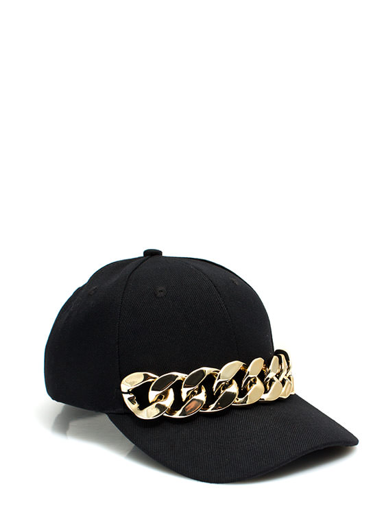 Chunky Chain Link Baseball Cap BLACKGOLD (Final Sale)