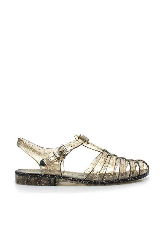 Glitterati Jelly Sandals SMOKE