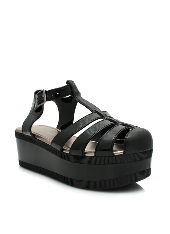 All Grown Up Jelly Wedges BLACK