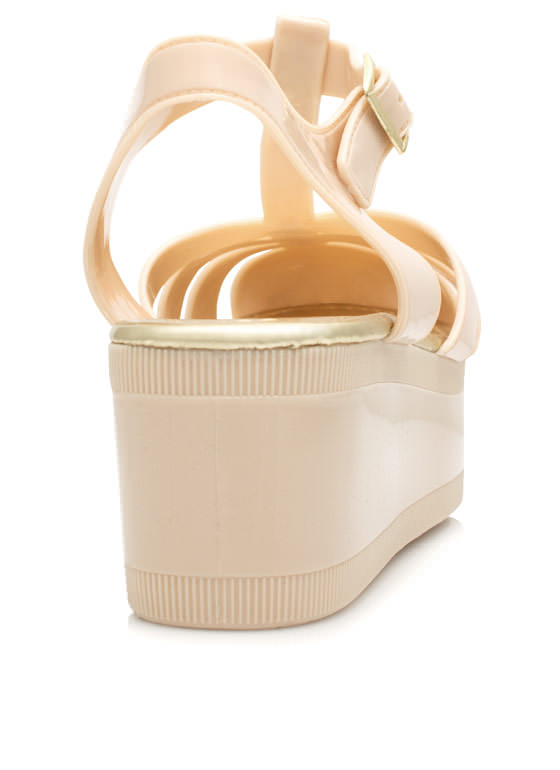 All Grown Up Jelly Wedges NUDE