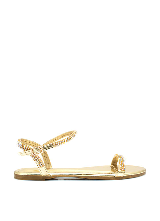 Twinkle Toes Embellished Sandals GOLD