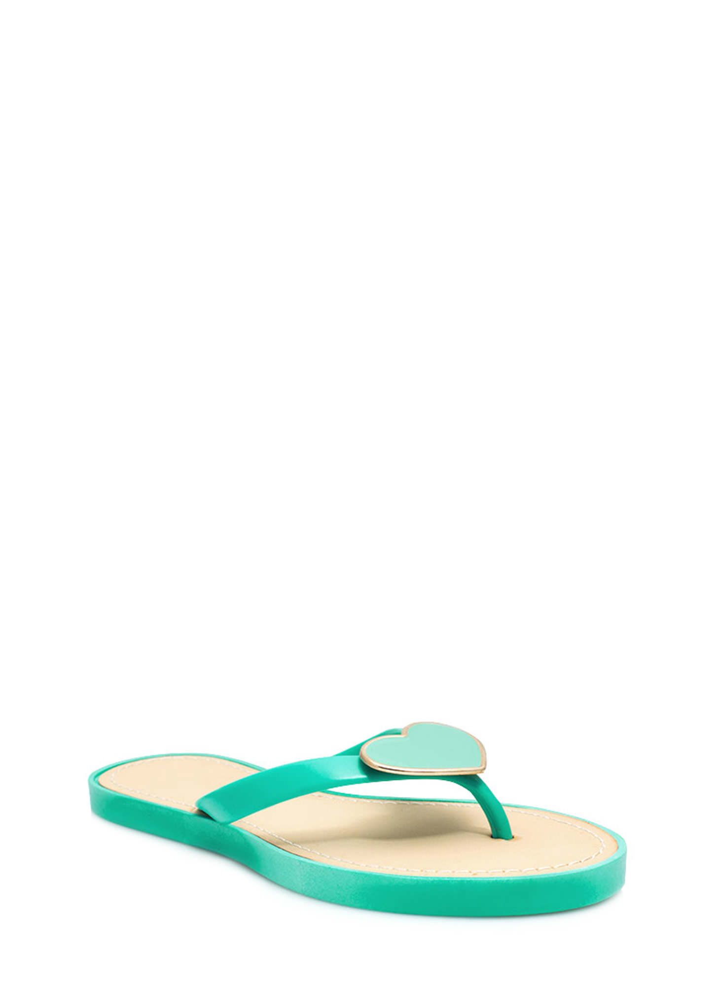 You Have A Big Heart Thong Sandals MINT