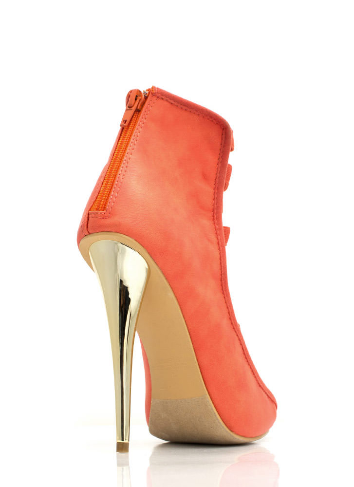 Strap To It Faux Leather Heels CORAL