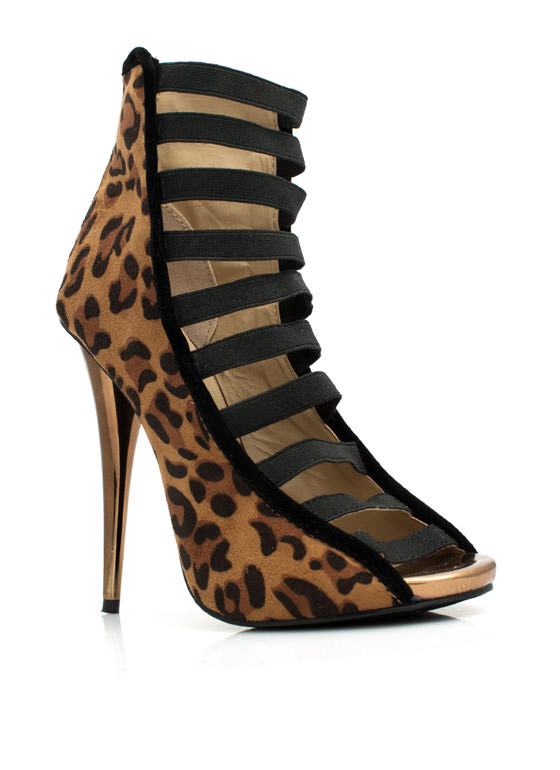 Strap To It Leopard Heels LEOPARD