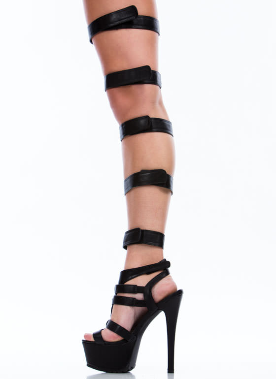 Your Highness Platform Heels BLACK