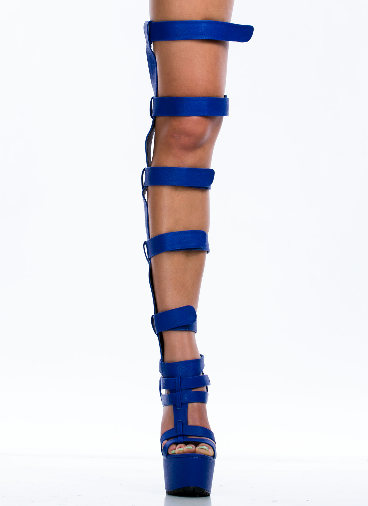 Your Highness Platform Heels COBALT