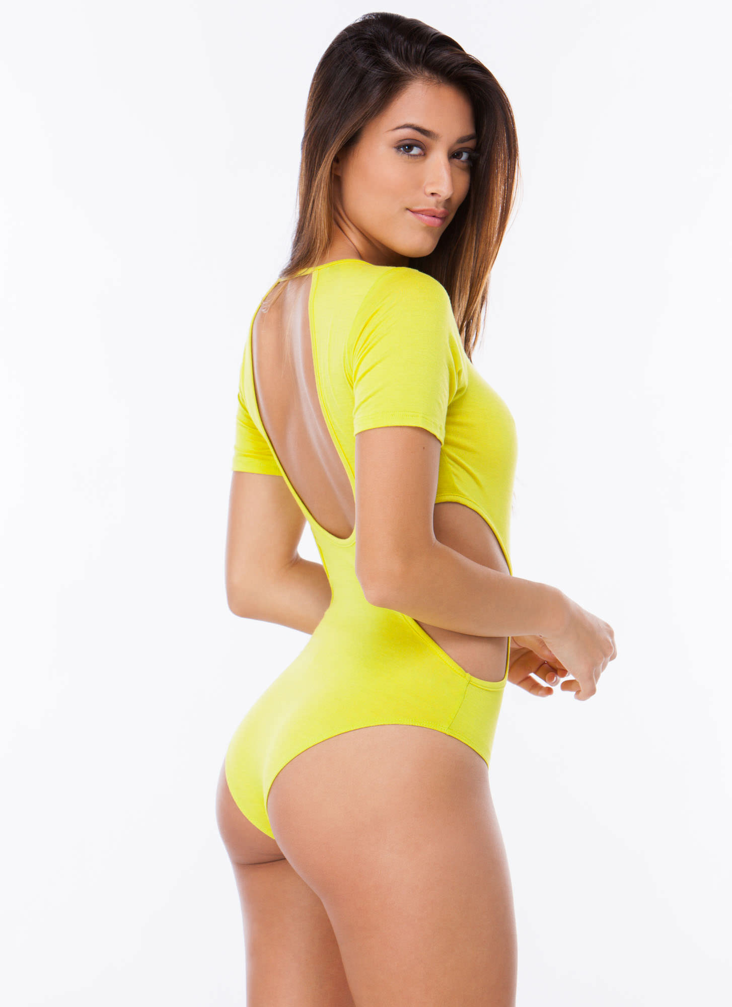 All Curves Cut-Out Bodysuit CITRON