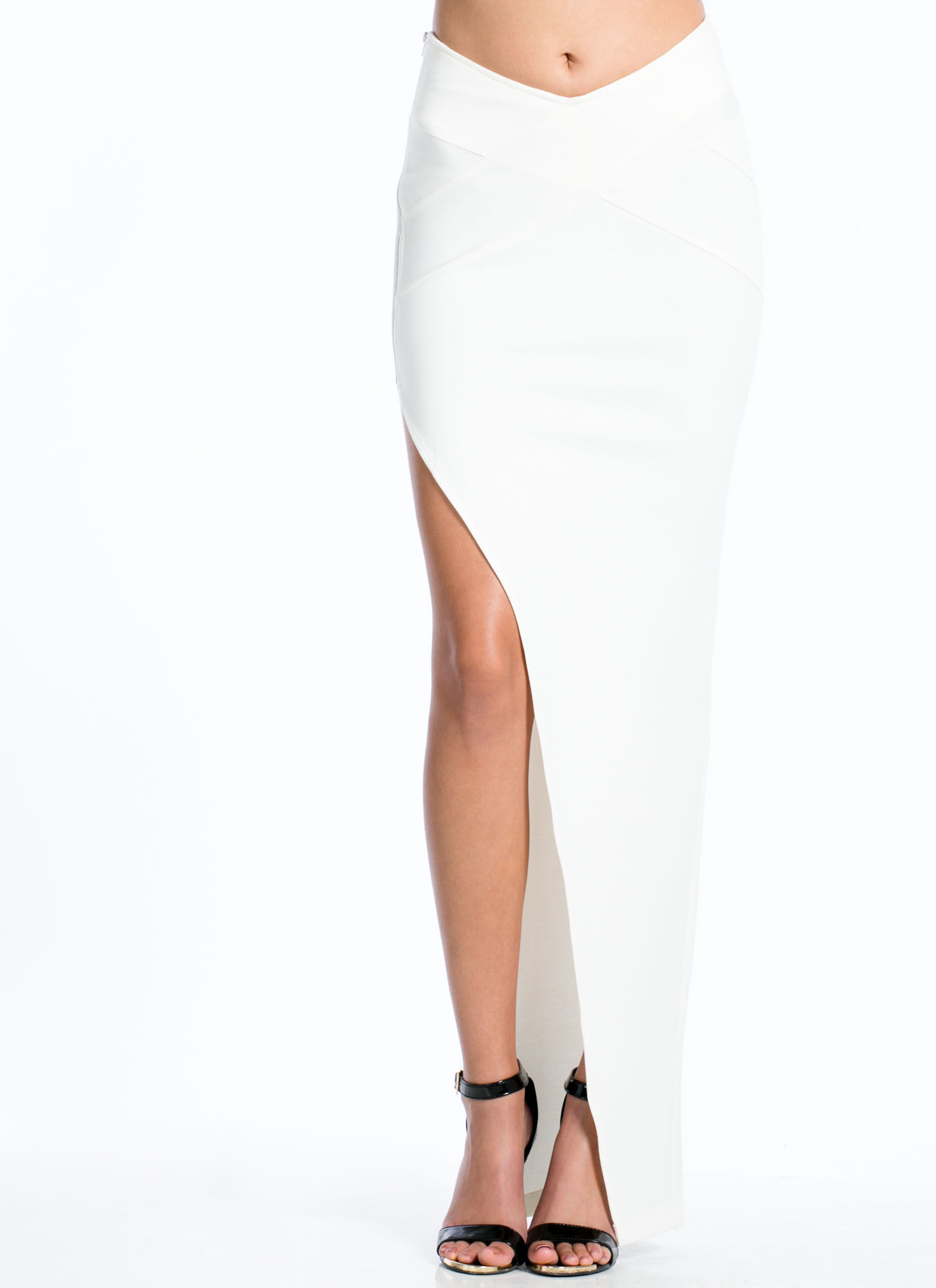 Zip To It Maxi Skirt WHITE (Final Sale)