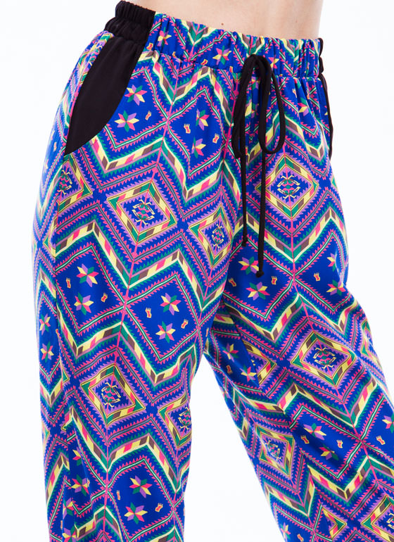 Tribal Talk Joggers ROYAL (Final Sale)