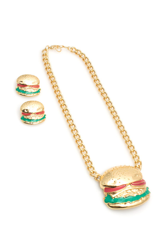 Hamburger Necklace Set GOLDMULTI (Final Sale)