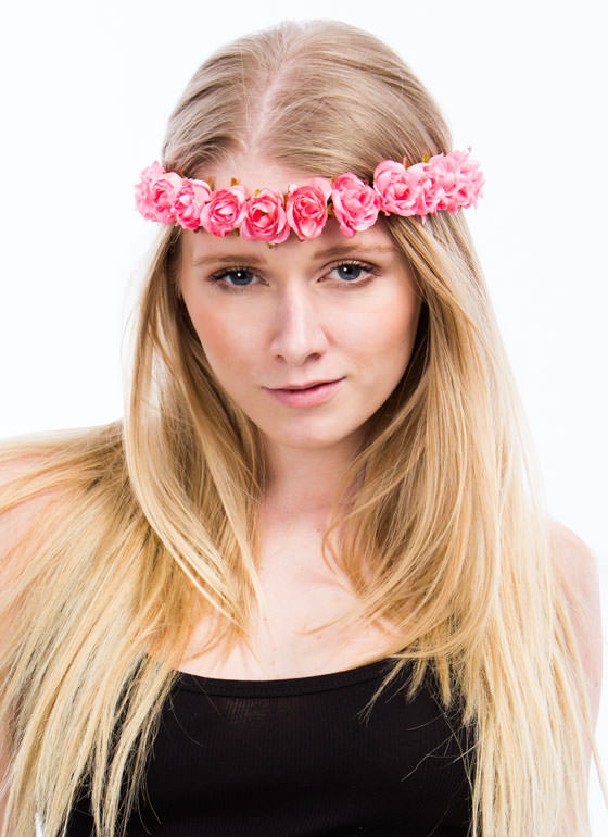 Row Of Rosettes Headband PINK