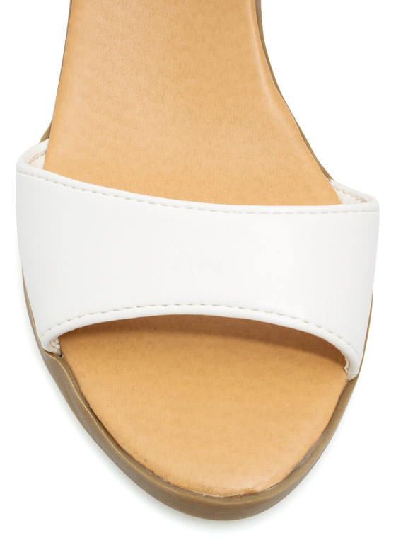Made The Cut-Out Heels WHITE