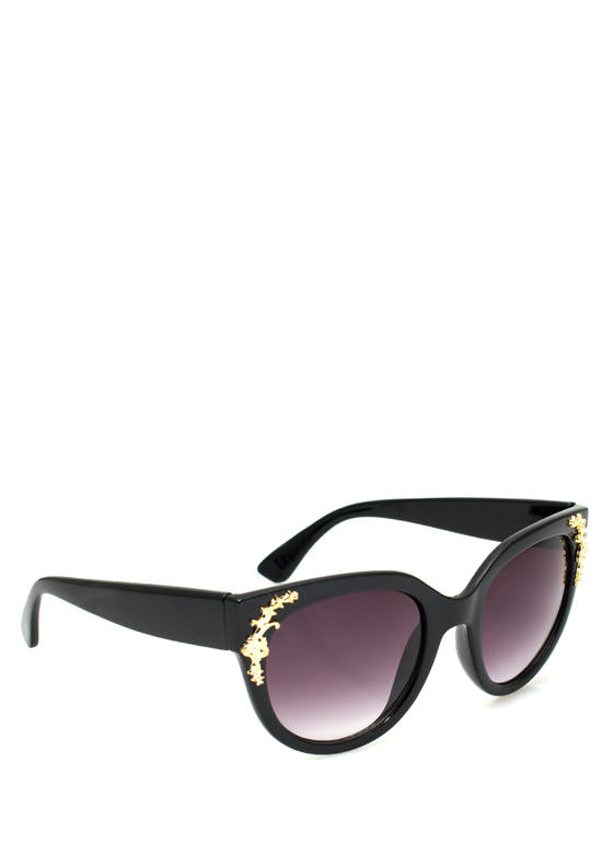 Touch Of Filigree Sunglasses BLACKGOLD