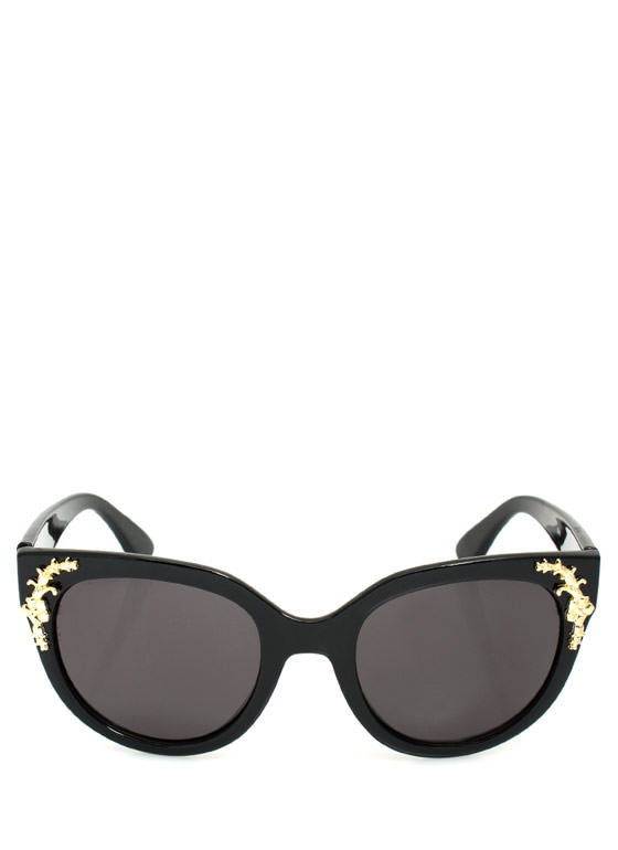 Touch Of Filigree Sunglasses BLKCHARGLD