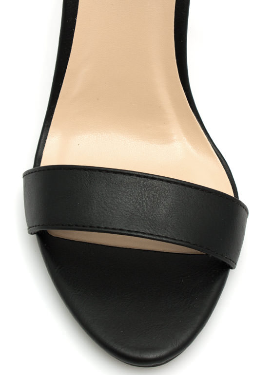 Keep It Simple Buckled Heels BLACK