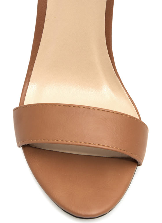 Keep It Simple Buckled Heels TAN
