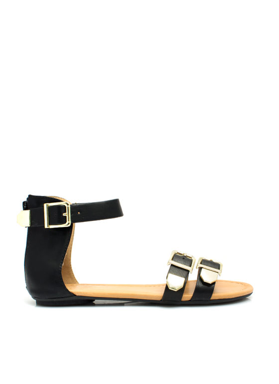 Bare Buckle Brawling Sandals BLACK