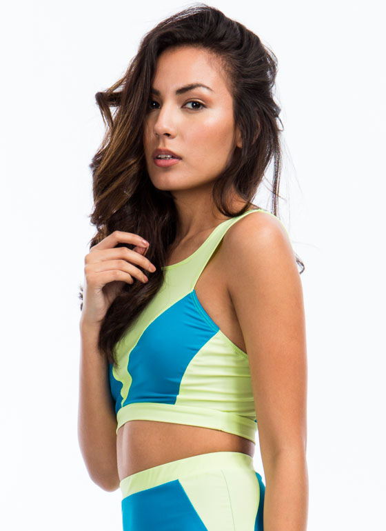 Road Colorblock Cropped Tank TEALLIME