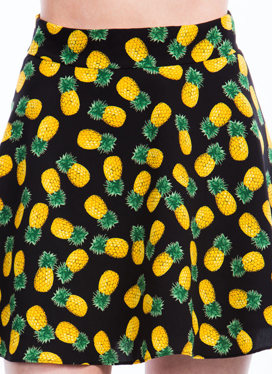 Pineapple In Paradise Skirt BLACK