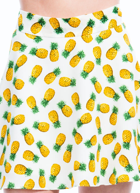 Pineapple In Paradise Skirt WHITE (Final Sale)