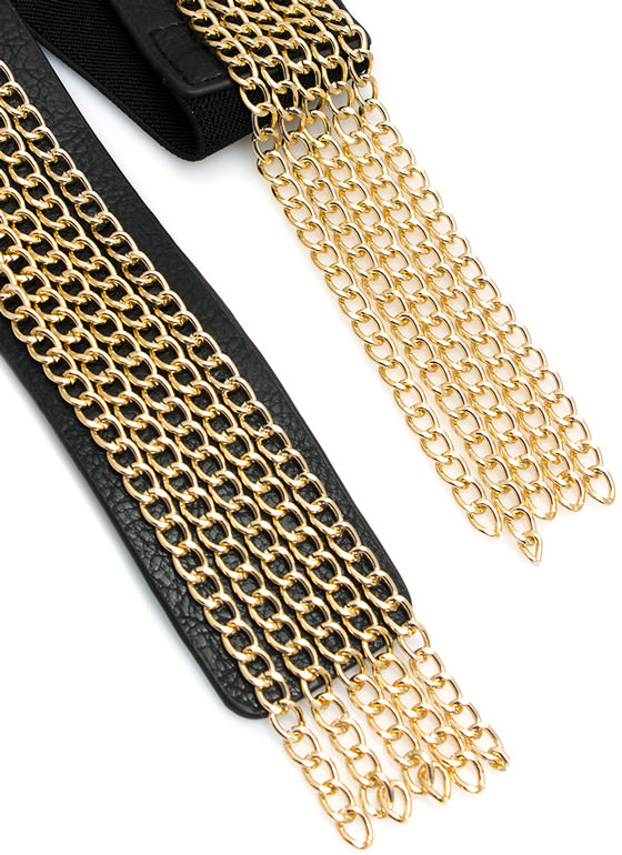 Chain Fringe Benefits Buckled Belt BLACKGOLD
