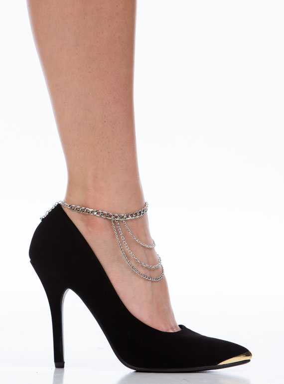 Draped In Chains Anklet SILVER