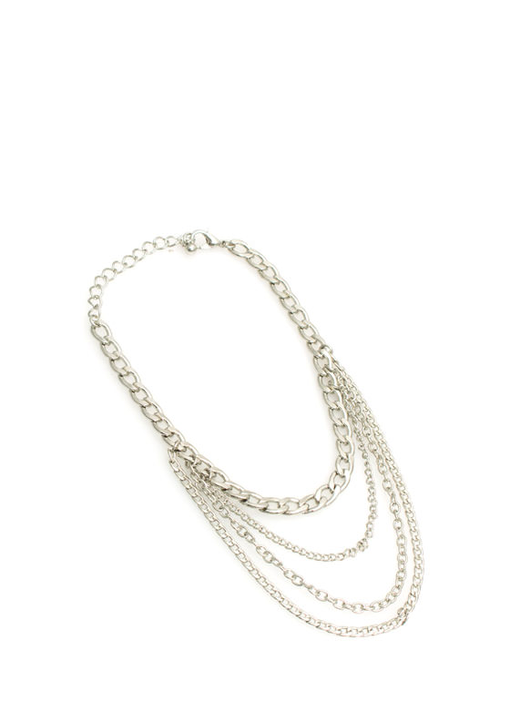 $2 Draped In Chains Anklet SILVER