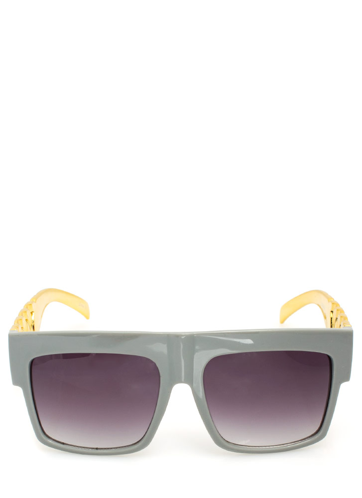 Chain Accent Sunglasses GREYGOLD