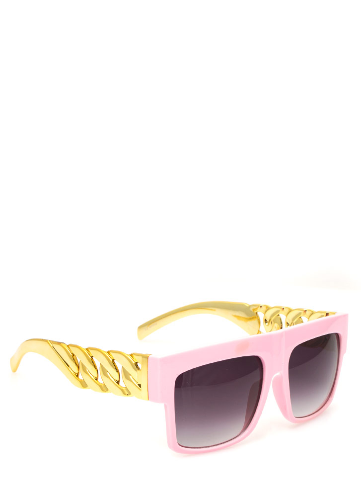 Chain Accent Sunglasses PINKGOLD