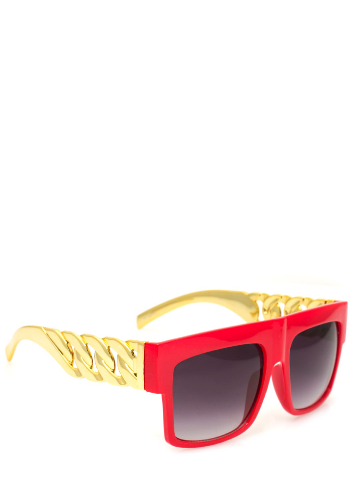 Chain Accent Sunglasses REDGOLD
