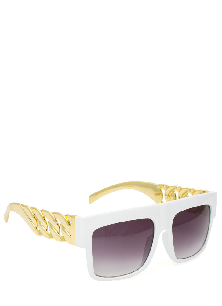 Chain Accent Sunglasses WHITEGOLD