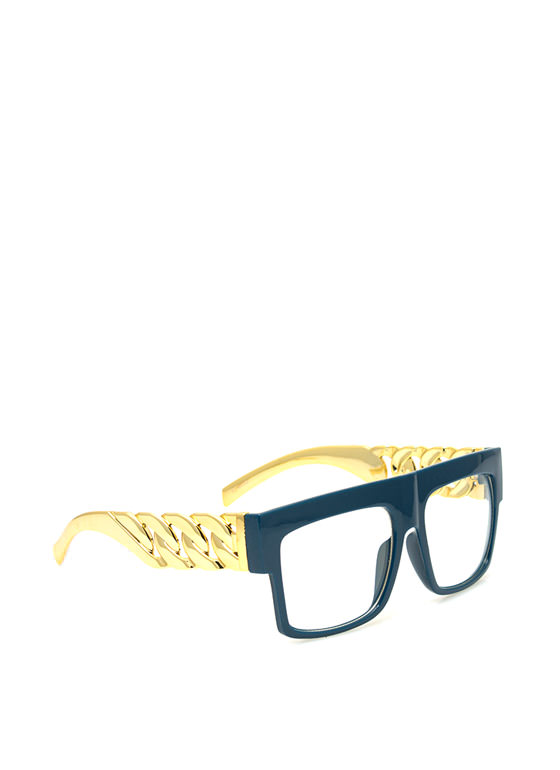 Chain Accent Glasses NAVY