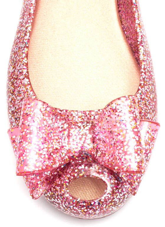 Plenty Of Sparkle Jelly Flats FUCHSIA