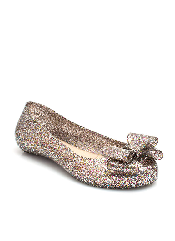 Plenty Of Sparkle Jelly Flats PEWTER