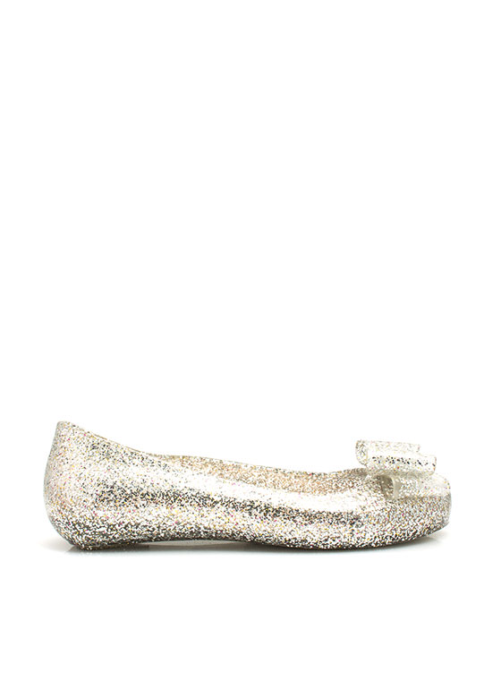 Plenty Of Sparkle Jelly Flats SILVER