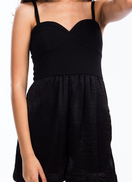 Smooth Operator Bustier Romper BLACK (Final Sale)
