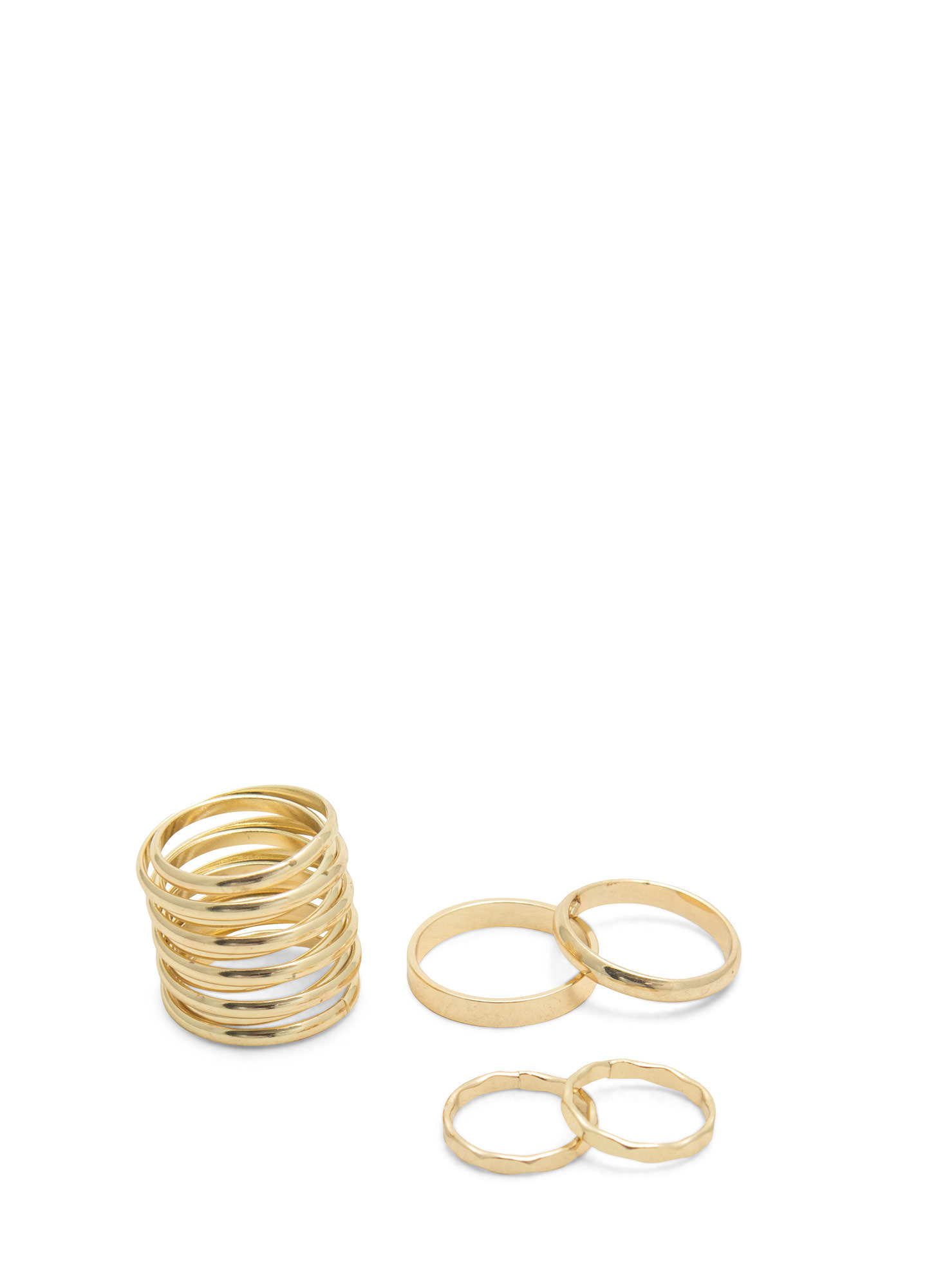 Coiled Ring Five Band Set GOLD