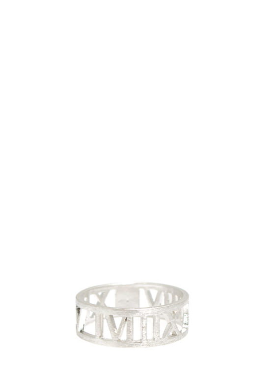 Cut-Out Roman Numeral Ring SILVER