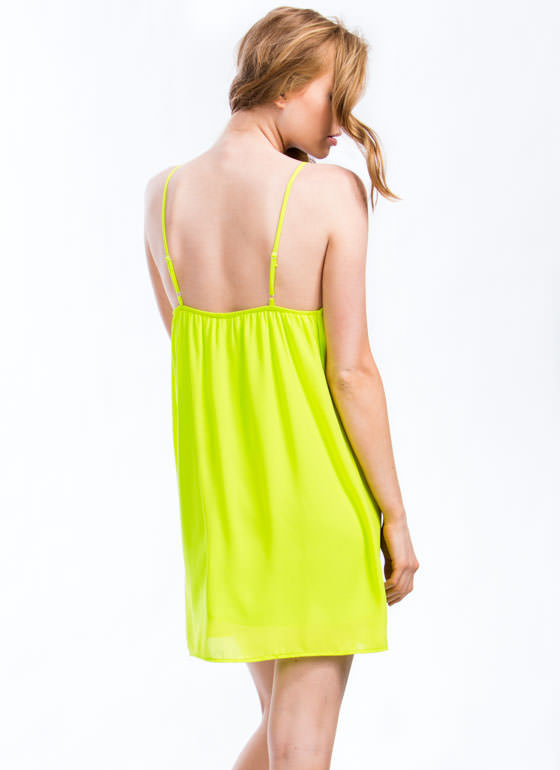 Single Pleat Cami Dress CITRON