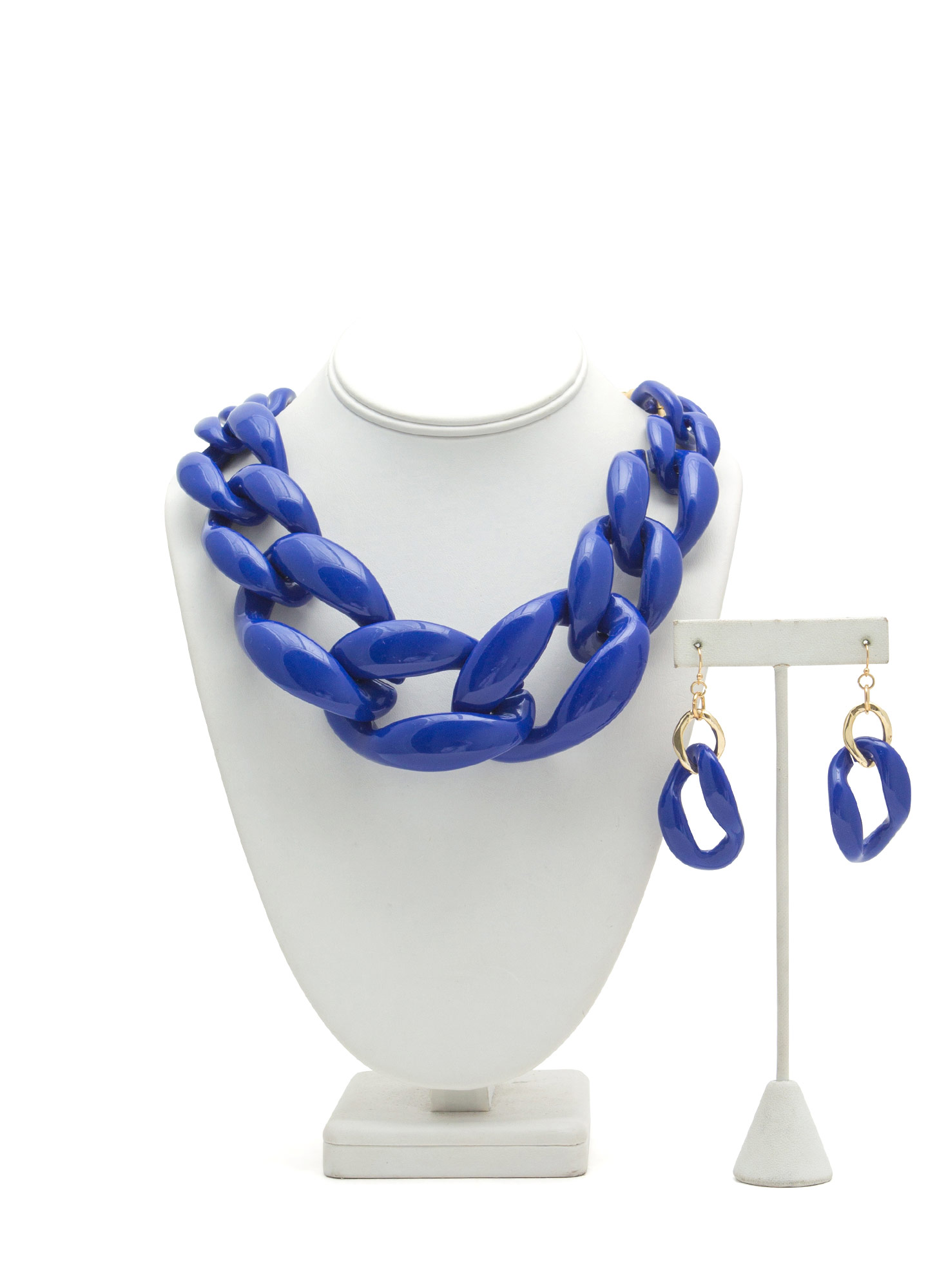 Chunky Coated Chain Necklace Set ROYALGOLD